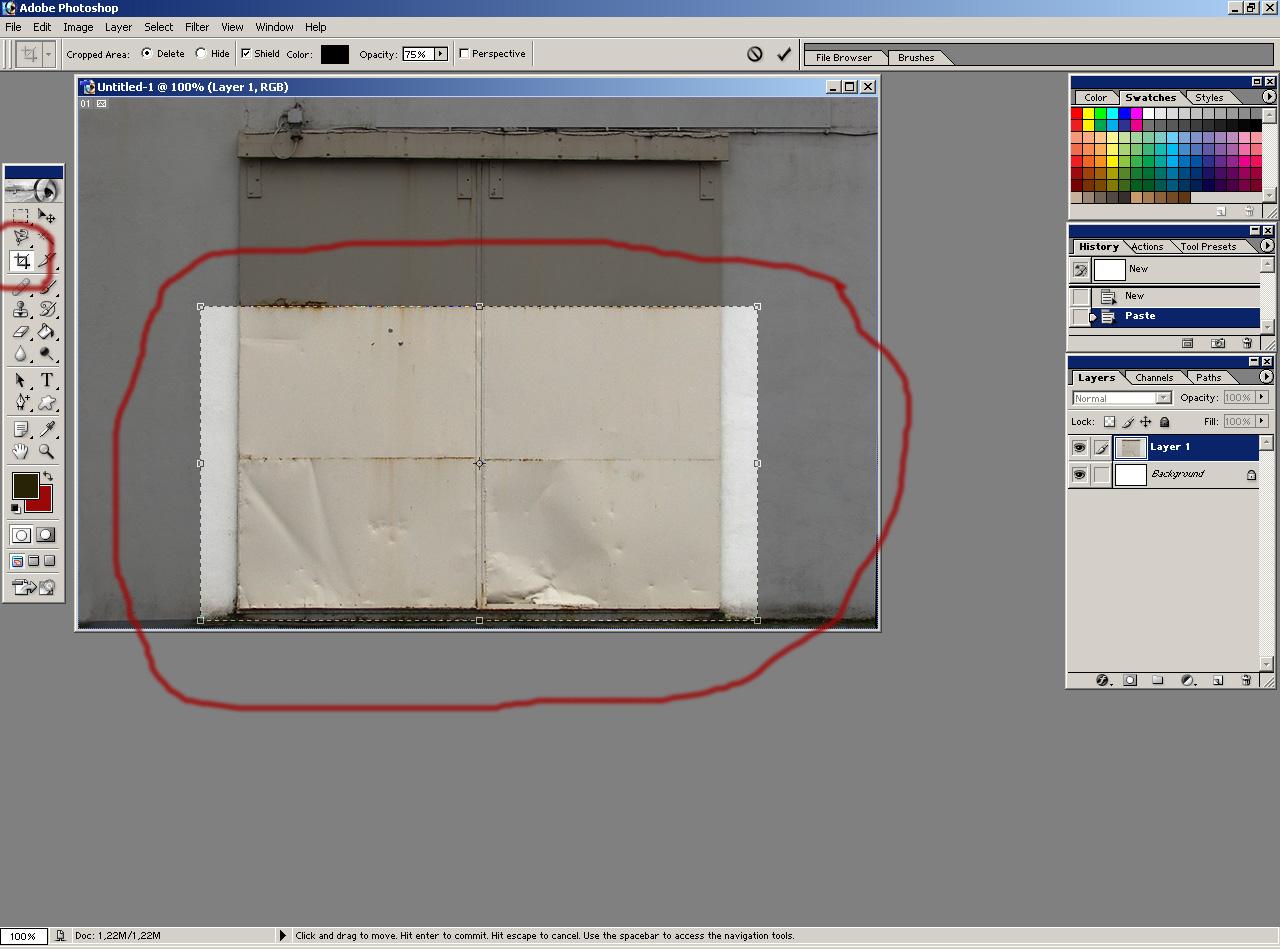 как вырезать лишнее у фотографии